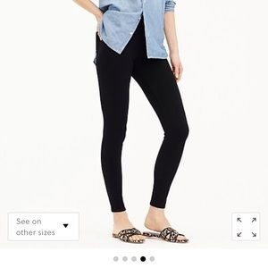 J.Crew Pull-on toothpick jeans in black. NEW.